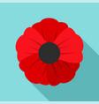 garden poppy flower icon flat style vector image