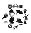 germany icons set simple style vector image vector image