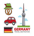 germany travel destination promo banner with flag vector image