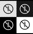 gluten free grain icon isolated on black white vector image vector image