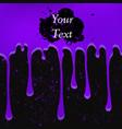 grunge violet color drops vector image