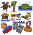 hawaii travel destination landmarks and famous vector image vector image