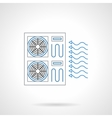 House cooling flat line icon vector image vector image