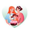 lesbian family celebration vector image vector image