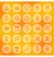 Line Circle Web Building and Construction Icons vector image vector image