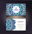 mandala business card vector image vector image