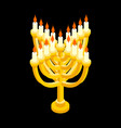 menorah isometry for jewish holiday traditional vector image vector image