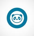 panda bold blue border circle icon vector image