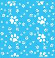 paws background paw blue pattern vector image