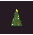 Pixel Christmas Tree vector image vector image