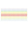 plant tree shape halftone spectrum effect vector image vector image