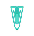 plastic blue paper clip fastener vector image vector image