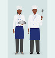 restaurant team concept cooking food characters vector image vector image