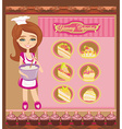 Retro kitchen Girl vector image vector image