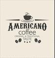retro vintage coffee design background 0003 vector image vector image