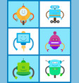 robots creature collection vector image vector image