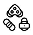 rollers detail rope movement equipment icon vector image vector image