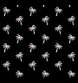 seamless pattern holographic palm on black vector image