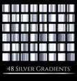 set of silver gradients large collection vector image