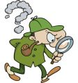 sherlock holmes searching for clues vector image vector image