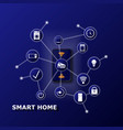 smart home controlled smartphone internet of vector image