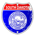 south dakota flag icons as interstate sign vector image vector image