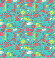 Sport and fitness seamless doodle pattern vector image vector image