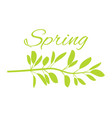 spring with wild grass on poster with huge sign vector image