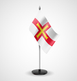 Table flag of Guernsey vector image vector image