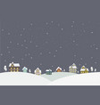 town in snow falling place vector image vector image