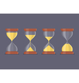 Transparent sandglass icon set vector image vector image