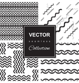 Wave icon pattern set vector image vector image