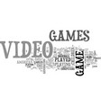 who plays video games text word cloud concept vector image vector image