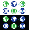 Globe earth icons in color vector image
