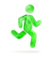 Watercolor stickman running man vector image