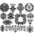 damask elements vector image
