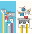 modern flat design of social network vector image
