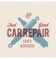 Retro Car Repair Label or Logo Template vector image