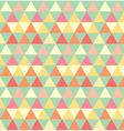 Retro seamless triangle pattern vector image