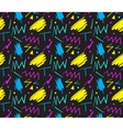 Seamless hand drawn pattern in fun retro style vector image