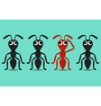 Ant cartoon characters vector image