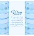 Background with wavy stripes vector image
