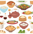 sushi japanese cuisine traditional seamless vector image