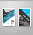 Abstract blue brochure template with icons vector image vector image