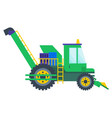 agricultural machine tractor or combine vector image vector image