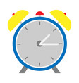 alarm clock flat design style vector image vector image