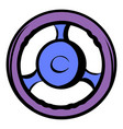 automobile wheel icon cartoon vector image