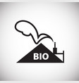 bio waste recycling energy on white background vector image