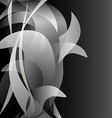 Black and white flower isolated background dark vector image vector image