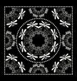 black bandana print vector image vector image